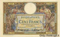100 Francs LUC OLIVIER MERSON sans LOM FRANCE  1921 F.23.14 SUP