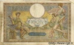 100 Francs LUC OLIVIER MERSON sans LOM FRANCE  1922 F.23.15 TB à TTB