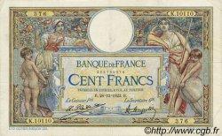 100 Francs LUC OLIVIER MERSON grands cartouches FRANCE  1923 F.24.01 TB à TTB