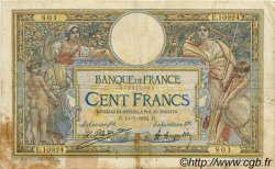100 Francs LUC OLIVIER MERSON grands cartouches FRANCE  1924 F.24.02 B+