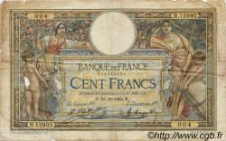100 Francs LUC OLIVIER MERSON grands cartouches FRANCE  1925 F.24.03 B
