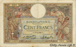 100 Francs LUC OLIVIER MERSON grands cartouches FRANCE  1926 F.24.04 B+
