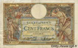 100 Francs LUC OLIVIER MERSON grands cartouches FRANCE  1926 F.24.04 TB+