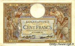 100 Francs LUC OLIVIER MERSON grands cartouches FRANCE  1930 F.24.09 pr.TTB
