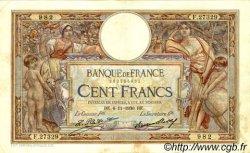 100 Francs LUC OLIVIER MERSON grands cartouches FRANCE  1930 F.24.09 TB à TTB