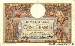 100 Francs LUC OLIVIER MERSON grands cartouches FRANCE  1934 F.24.13 TB+ à TTB