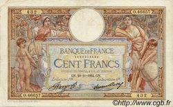 100 Francs LUC OLIVIER MERSON grands cartouches FRANCE  1934 F.24.13 pr.TTB