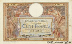 100 Francs LUC OLIVIER MERSON grands cartouches FRANCE  1937 F.24.16 pr.TTB