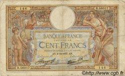 100 Francs LUC OLIVIER MERSON type modifié FRANCE  1937 F.25.04 B+