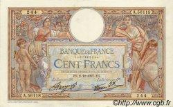 100 Francs LUC OLIVIER MERSON type modifié FRANCE  1937 F.25.04 SUP