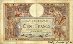 100 Francs LUC OLIVIER MERSON type modifié FRANCE  1938 F.25.11 B