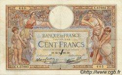 100 Francs LUC OLIVIER MERSON type modifié FRANCE  1938 F.25.12 TTB+