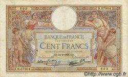 100 Francs LUC OLIVIER MERSON type modifié FRANCE  1938 F.25.12 TB