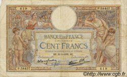 100 Francs LUC OLIVIER MERSON type modifié FRANCE  1938 F.25.14 B