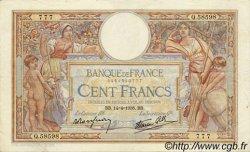 100 Francs LUC OLIVIER MERSON type modifié FRANCE  1938 F.25.15 TTB
