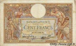 100 Francs LUC OLIVIER MERSON type modifié FRANCE  1938 F.25.20 TB+