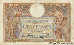 100 Francs LUC OLIVIER MERSON type modifié FRANCE  1938 F.25.22 TB+
