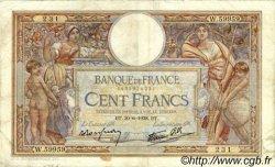 100 Francs LUC OLIVIER MERSON type modifié FRANCE  1938 F.25.24 pr.TTB