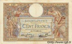 100 Francs LUC OLIVIER MERSON type modifié FRANCE  1938 F.25.25 TB+