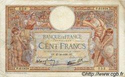 100 Francs LUC OLIVIER MERSON type modifié FRANCE  1938 F.25.33 TTB