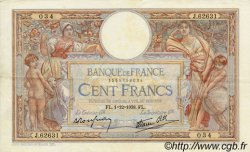 100 Francs LUC OLIVIER MERSON type modifié FRANCE  1938 F.25.35 TTB+