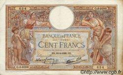 100 Francs LUC OLIVIER MERSON type modifié FRANCE  1939 F.25.43 TTB