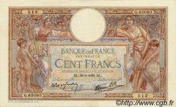 100 Francs LUC OLIVIER MERSON type modifié FRANCE  1939 F.25.44 SUP à SPL