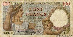 100 Francs SULLY FRANCE  1939 F.26 TB