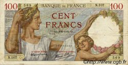 100 Francs SULLY FRANCE  1939 F.26.02 pr.TTB