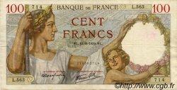100 Francs SULLY FRANCE  1939 F.26.05 TTB+