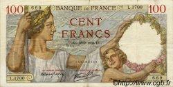100 Francs SULLY FRANCE  1939 F.26.08 TTB