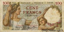 100 Francs SULLY FRANCE  1940 F.26.21 TB+