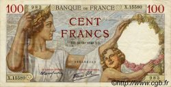 100 Francs SULLY FRANCE  1940 F.26.39 TTB+