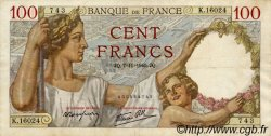 100 Francs SULLY FRANCE  1940 F.26.40 TTB+