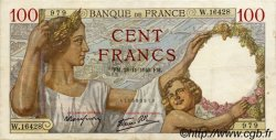 100 Francs SULLY FRANCE  1940 F.26.41 TTB+