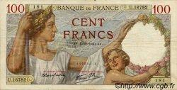 100 Francs SULLY FRANCE  1940 F.26.42 TTB