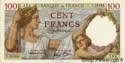 100 Francs SULLY FRANCE  1941 F.26.44 SUP à SPL