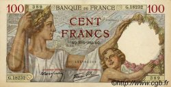 100 Francs SULLY FRANCE  1941 F.26.45 SUP
