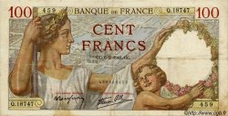 100 Francs SULLY FRANCE  1941 F.26.46 TB+