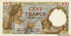 100 Francs SULLY FRANCE  1941 F.26.47 SPL