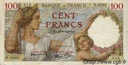 100 Francs SULLY FRANCE  1941 F.26.47 TTB
