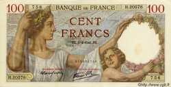 100 Francs SULLY FRANCE  1941 F.26.49 SUP+