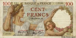 100 Francs SULLY FRANCE  1941 F.26.53 TB