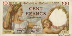 100 Francs SULLY FRANCE  1941 F.26.54 TTB+