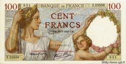 100 Francs SULLY FRANCE  1941 F.26.56 SPL