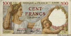100 Francs SULLY FRANCE  1941 F.26.57 TB+