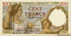 100 Francs SULLY FRANCE  1941 F.26.59 SUP