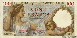 100 Francs SULLY FRANCE  1942 F.26.64 SUP+