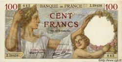 100 Francs SULLY FRANCE  1942 F.26.66 TTB+