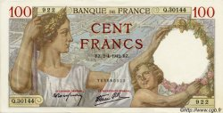 100 Francs SULLY FRANCE  1942 F.26.69 SPL+